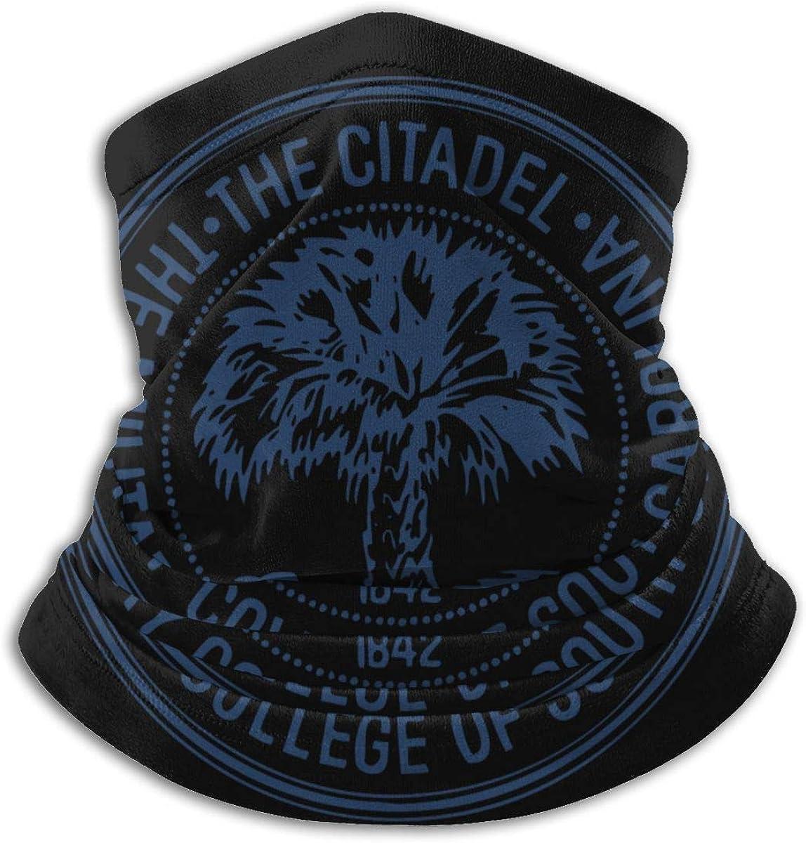 The Citadel, The Military College of South Carolina Unisex Microfiber Neck Warmer Neck Gaiter Face Mask Bandana Balaclava