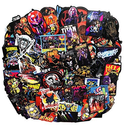 Superheros Laptop Stickers Cute Cartoon Computer The Avengers Thanos Vinyl Sticker Waterproof Bike Skateboard Luggage Decal Graffiti Patches Decal 108pcs (1)]()