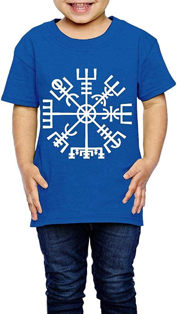 Viking Compass Symbol 2-6 Years Old Children Short-Sleeved T-Shirt