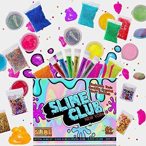 Slime Kit Supplies - Slime Kits for Kids Girls and Boy - Comes with Add-in Accessories Including Slime Beads, Slime Charms, Slime Glitter, & Other Slime Decoration Packs - Includes 18