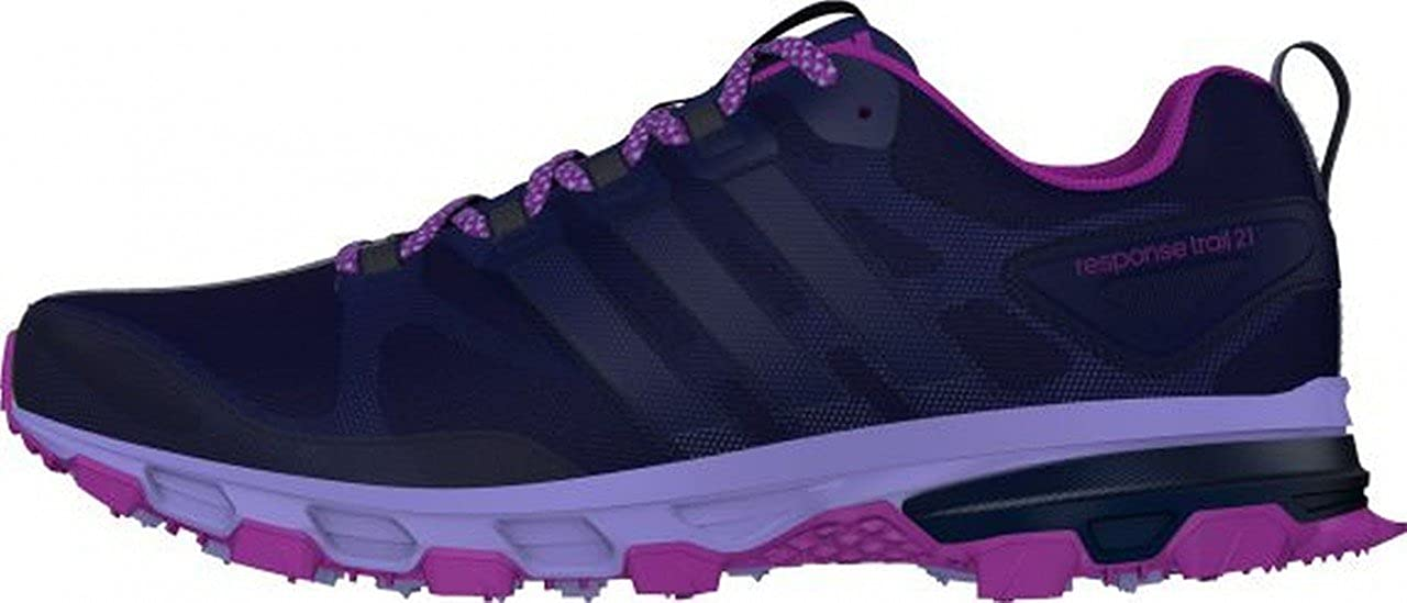 buy popular 40cec 903fb adidas Damen Response Trail 21 Sneaker, dunkelviolett Amazon.de Schuhe   Handtaschen