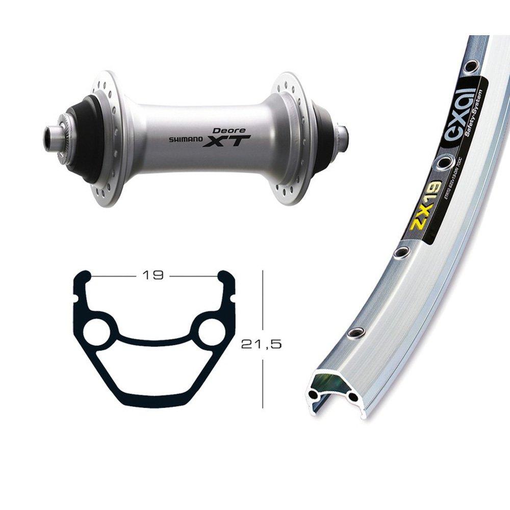 Bike-Parts 26´´ Vorderrad Exal ZX 19 + Shimano Deore XT (QR)