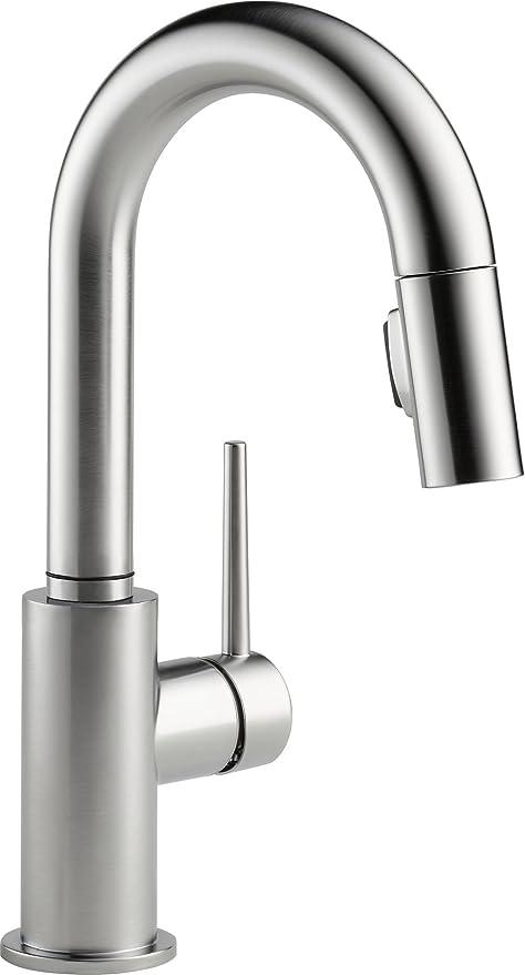 Delta Faucet Trinsic Single Handle Bar Prep Kitchen Sink Faucet With