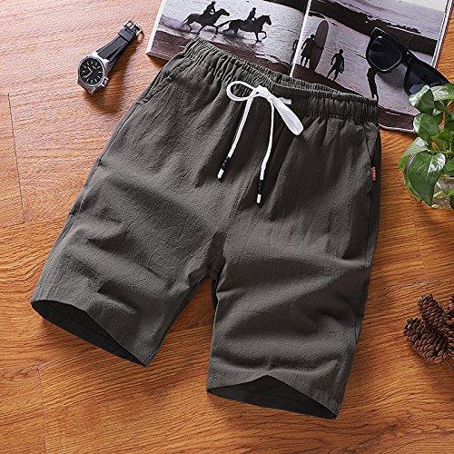 Army Green K02 XXL Hai Hai Beach Shorts Summer Shorts Men's Loose Large Pants Beach Pants Casual Sports Pants Summer Thin Beach Pants Pants