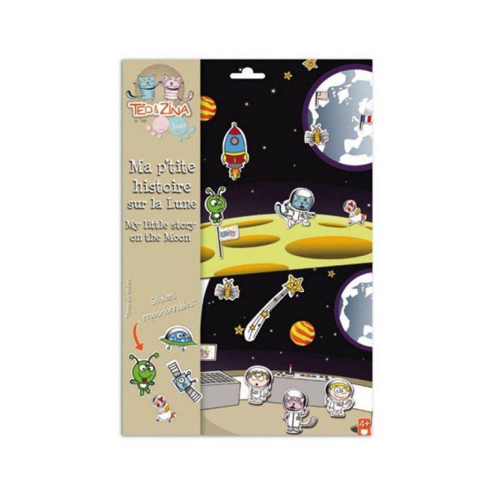 Teo y Zina - Pegatinas mi historia en la luna (STK04) Manualidades Originales