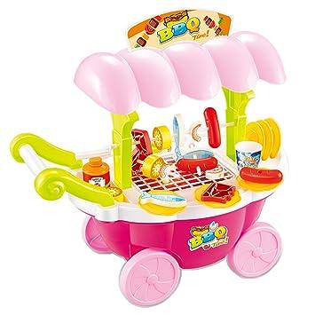 Homyl Juguete Infantil Preescolar Carrito de Helados Rosado Alimentos de Silumación Plástico en Miniatura para Dollhouse: Amazon.es: Juguetes y juegos