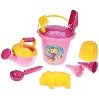 Lena 05423 - Happy Sand speelset voor meisjes II, zandspeelgoed 10-delig voor kinderen vanaf 2 jaar, strandspeelgoed met…