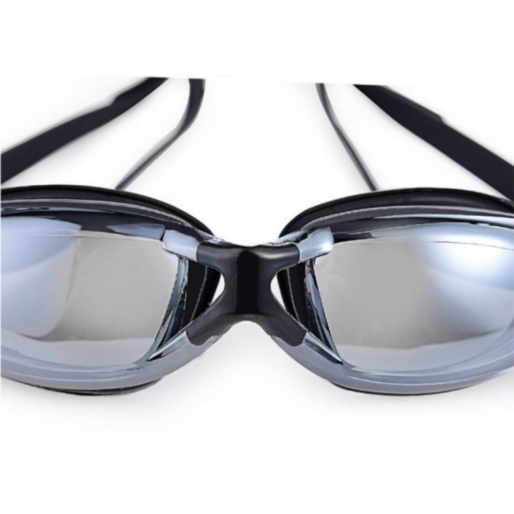 Enshey Swimming Goggles,Professional Waterproof No Leaking Anti-Fog UV Protect Swim Glasses with Free Protection Case for Adult Father\'s Day (Black)
