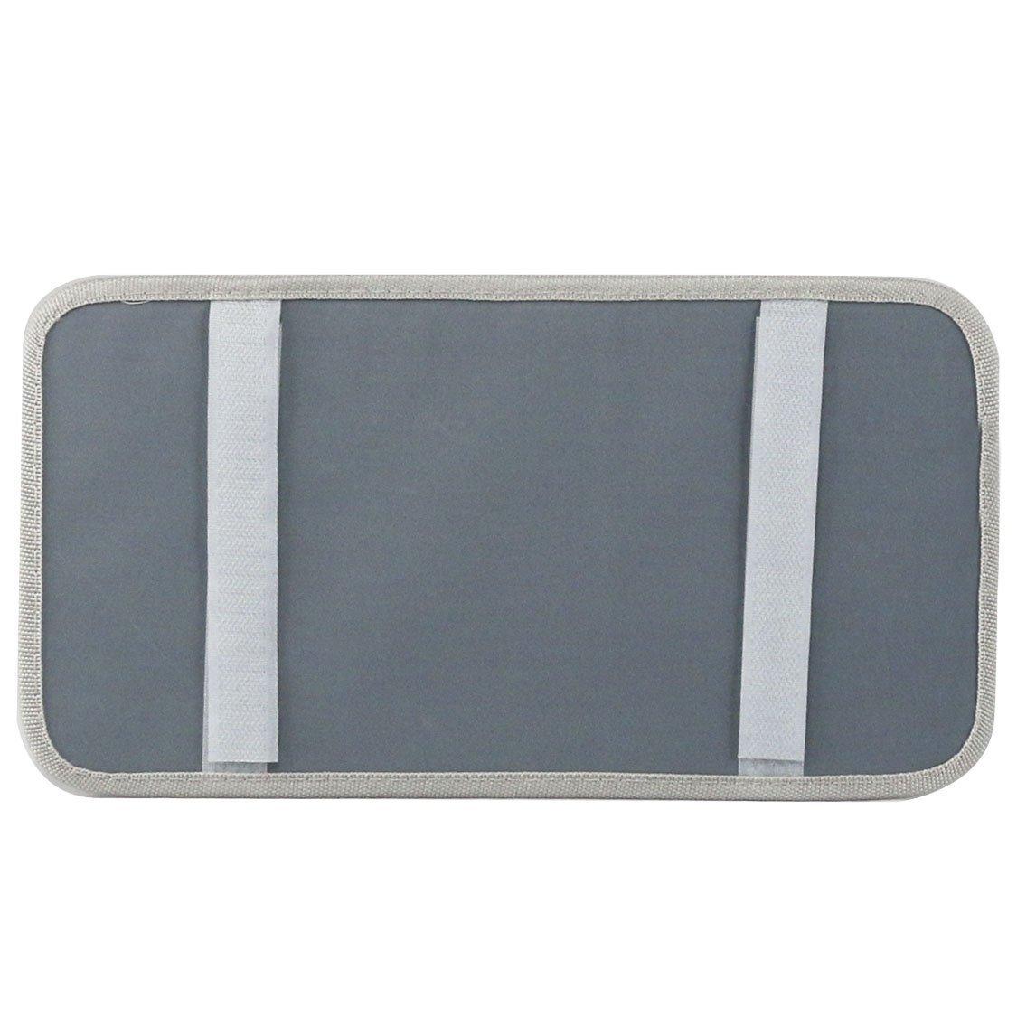 3 Credit Cards Pockets StyleZ CD Sun Visor Organizer Detachable Portable PU Leather with 8 CD Slots 5558976261 1 Pen Holder Gray 1 Sunglasses Holder