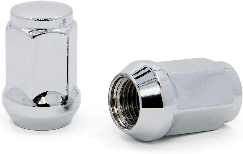 Chrome Bulge Acorn Lug Nuts 1//2-20 Pack of 20 3//4 Hex