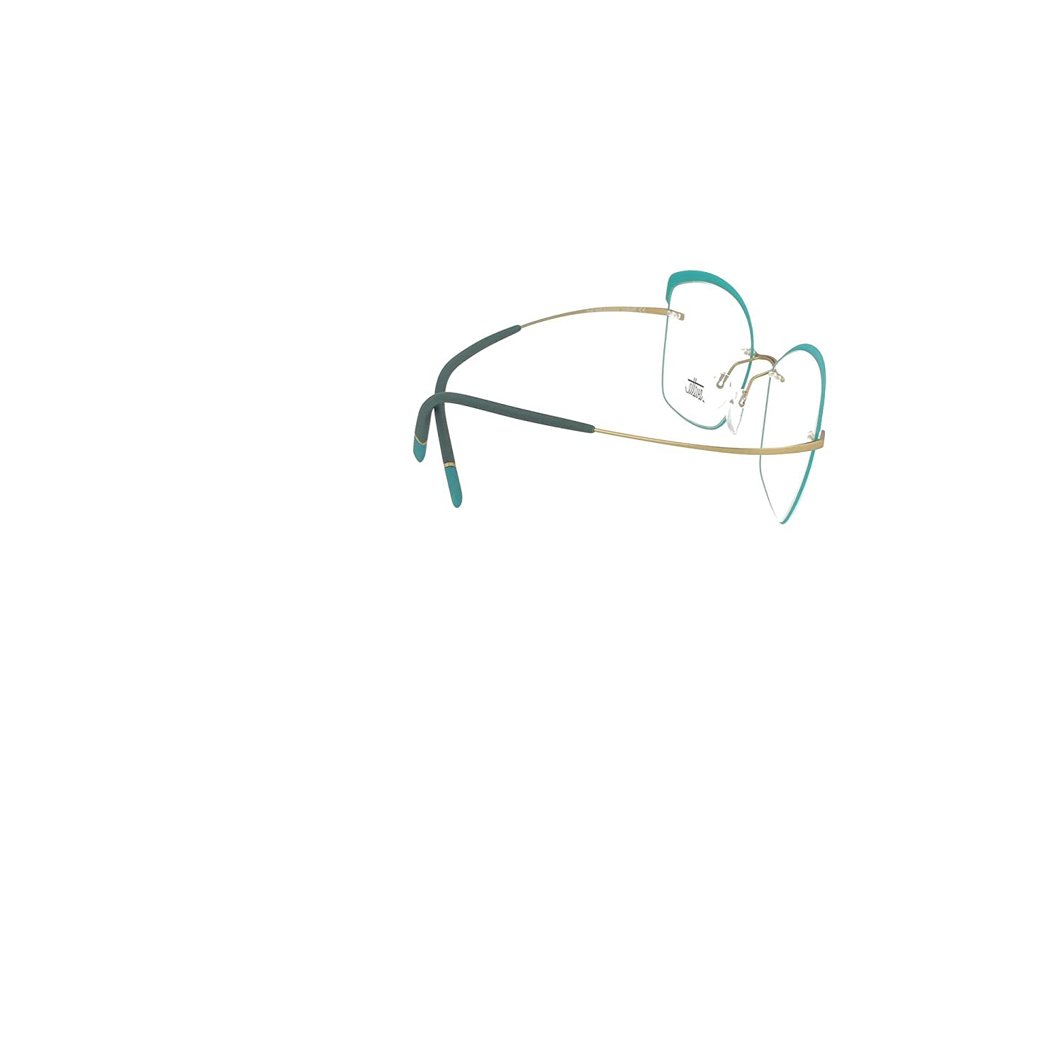 Eyeglasses Silhouette TMA Icon Accent Rings 5518 5540 brass//light teal 54//17