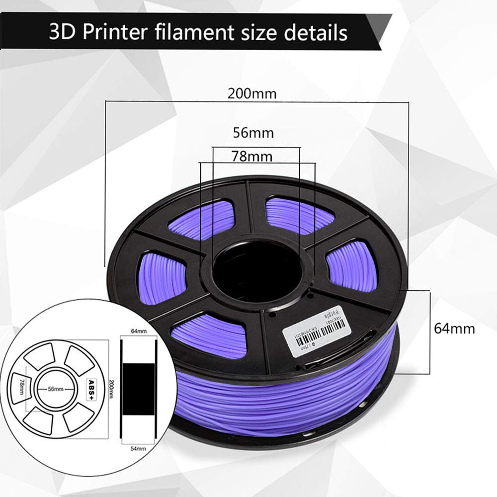 0.02 mm,Filament 3D Printing Materials,Compatible with most 3D Printer//3D pen,Enotepad Black+White+Black PLA Plus 3.3lbs 3D Printer Filament,PLA PLA 1.75 mm,0.5KG*3 Spools // ,Dimensional Accuracy
