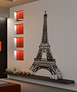 Paris France Eiffel Tower Wall Decal Sticker Stickerbrand Famous Landmarks  Vinyl Wall Art, 72in X