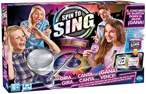 Amazon.es: Spin to Sing-41393 The Talent Show Game, (Cife 41393)