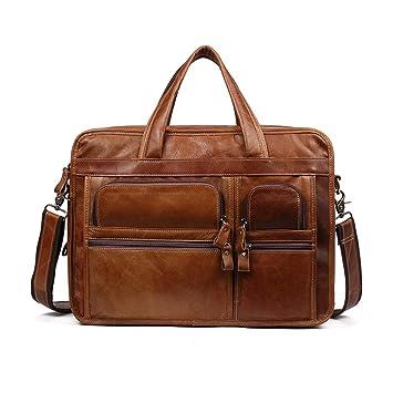 Color : Brown Bag Briefcase Shoulder Strap Messenger Bag Messenger Bag Casual Bag