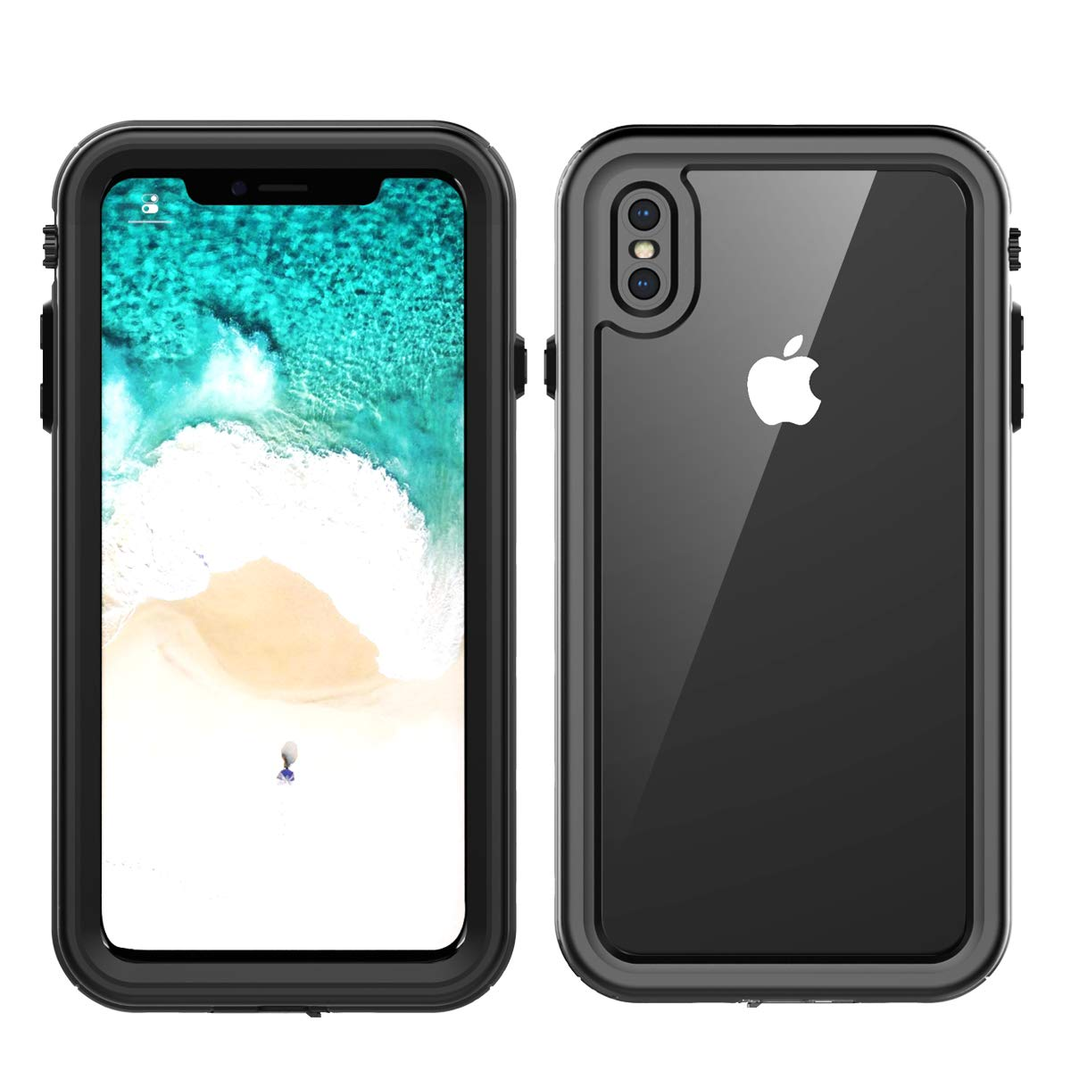 AICEDA 水中ハウジング iPhone Xs Max、グレード IP68 携帯電話ケース 水泳 水中 写真 ビデオ カメラ防水ケース 交換用 iiPhone Xs Max (ブラック)   B07JQ1HT5G
