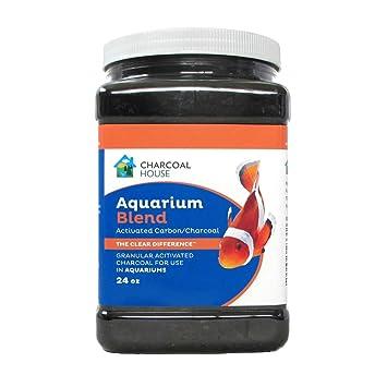 amazon com 2 quart aquarium blend granulated charcoal granular