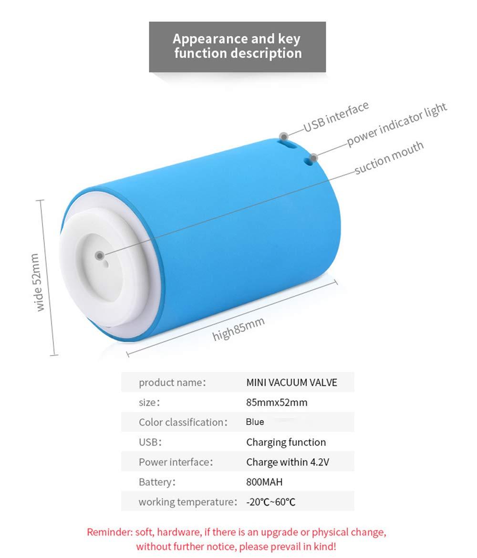 Pompe /à Vide Mini Automatique Compresseur Multifonctionnel USB Rechargeable Sans Fil USB Avec 5 Poches Scell/ées Sous Vide