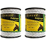 Zareba Systems PR656W6-Z Polyrope 200m 6-Conductor Portable Electric-Fence Rope (2 pack)