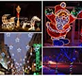 WALCUT Flexible 150FT 1620 LEDs 2 Wire Crystal Clear PVC Tubing LED Rope Light Indoor/Outdoor Boat Decorative Party Christmas Holiday Business Restaurant Light Kit 110V