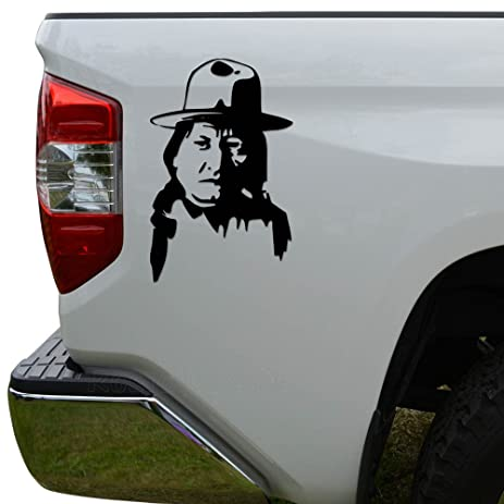 Geronimo indian chief die cut vinyl decal sticker for car truck motorcycle window bumper wall decor