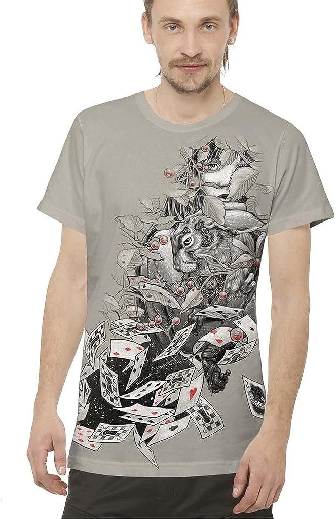 Camiseta psicodélica con Arte gráfico Alicia en el País de Las Maravillas - Ropa Urbana para Hombre: Amazon.es: Ropa y accesorios