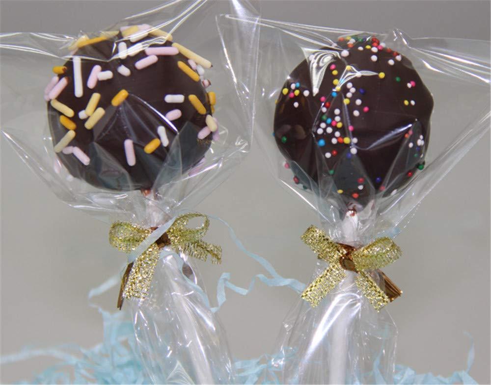 bolsas de pl/ástico bolsas planas para dulces bolsas de caramelos galletas 12x25cm 200 bolsas de celof/án peque/ñas Troysinc bolsas de celof/án transparentes