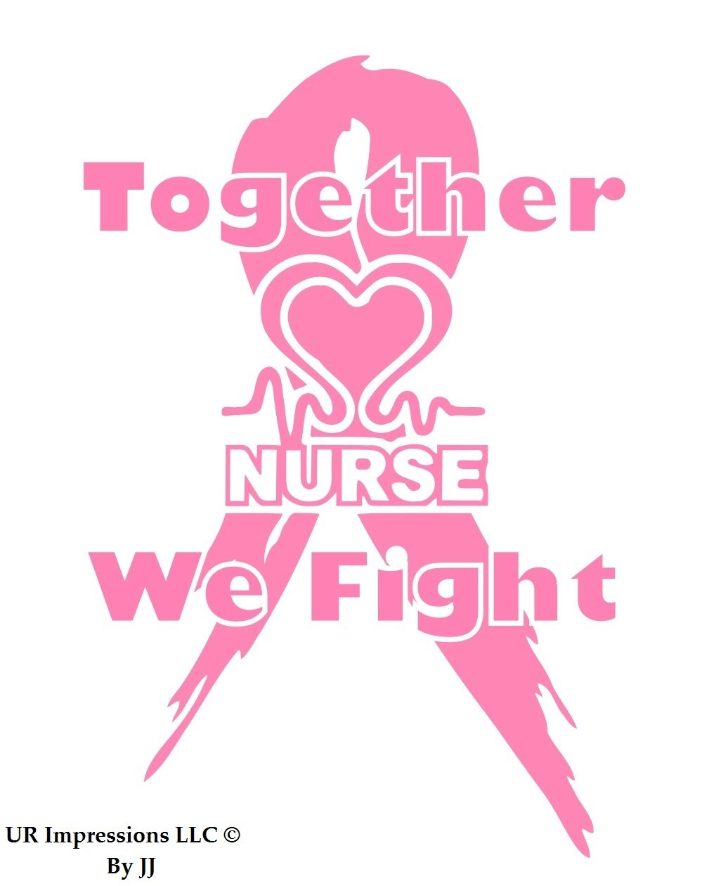Pnk B076K4MV1V Nurse Lifeline – Together We Fight Fight Breast Cancer – Awarenessリボンデカールビニールsticker|cars Trucks壁ノートパソコンtablet|pink|6.5 X 5.5 in|jjuri026 B076K4MV1V, シートレール専門ユニプロ:9f34dbb0 --- harrow-unison.org.uk
