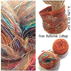 Boutique Yarn Cowl Knitting Kit Orange