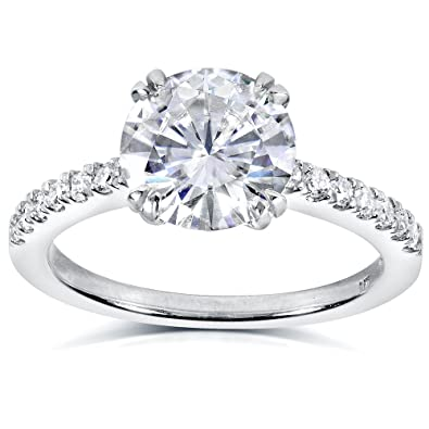 Round-cut Moissanite   Diamond Engagement Ring 2 1 10 Carat (ctw) in ... 120161143fb2