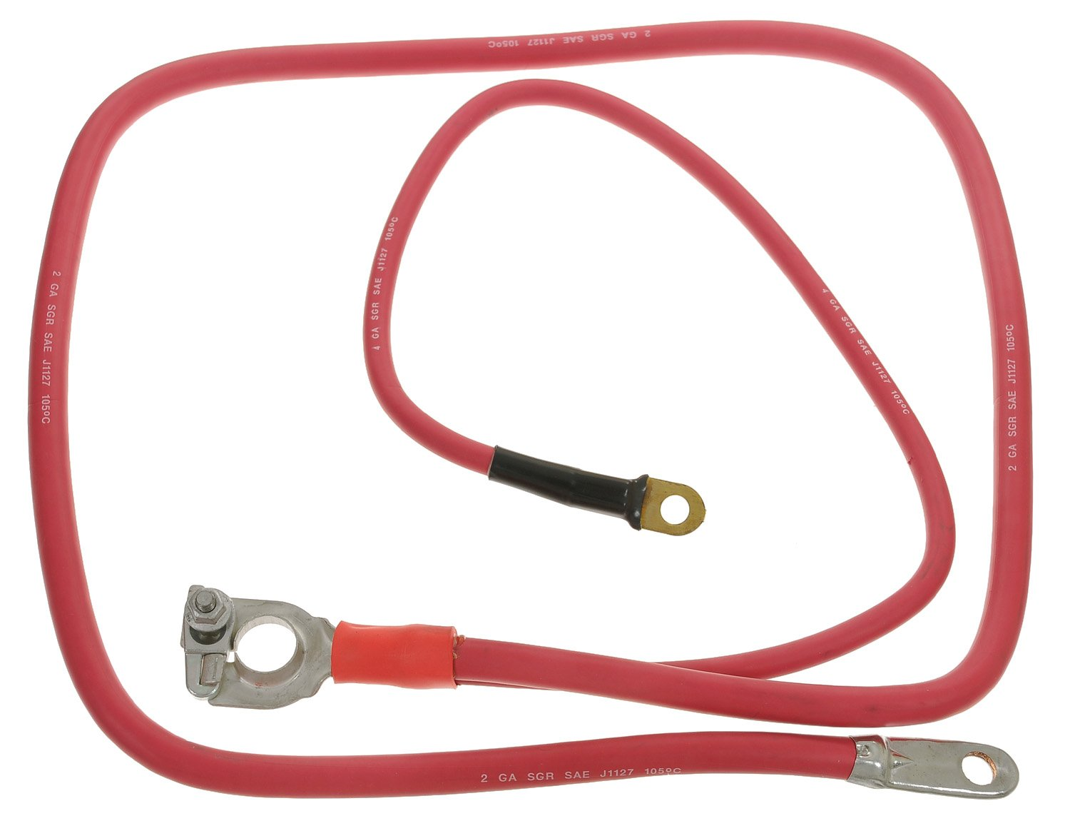 ACDelco 2BC49X Professional Red 2 Gauge Positive Lead Free Battery Cable with Auxiliary Leads by ACDelco