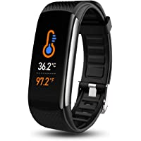 Smart Watch, Fitness Tracker with Body Temperature Thermometer Blood Oxygen Heart Rate Blood Pressure Monitor Sleep…