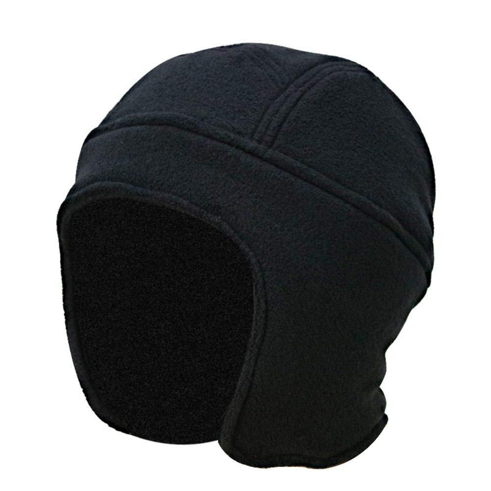 NZDHER Bonnets Homme Chapeaux d'hiver pour Hommes Casquettes Lisses Cyclisme Bonnets Chauds Épaissis Coupe-Vent