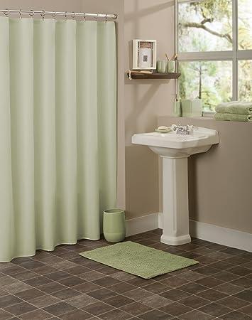 Amazon.com: Metro Luxe Bath Elements Shower Curtain Light Sage Green ...