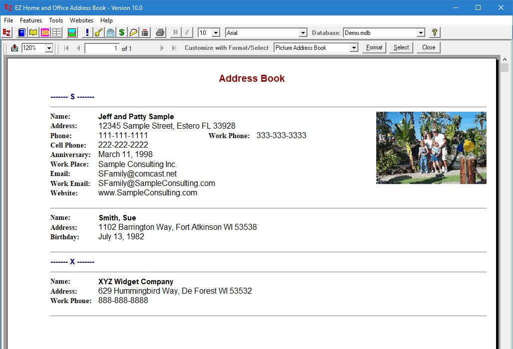 address book program