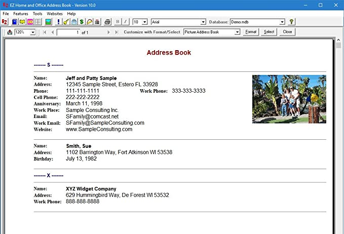 amazon com ez home and office address book