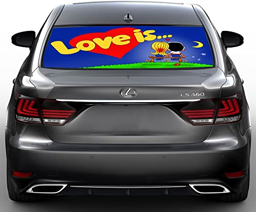 24x24 CGSignLab Share The Love Square Perforated Window Decal