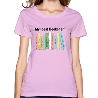 My Ideal Bookshelf T Shirtwomen O Neck With Short Sleeve