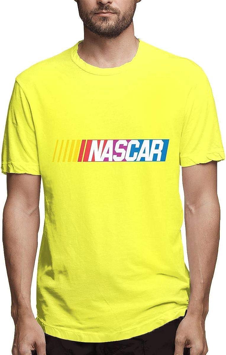 Camiseta de Manga Corta para Hombre, diseño de Logotipo de Nascar Amarillo Amarillo 4XL: Amazon.es: Ropa y accesorios