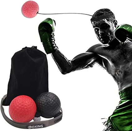Fight Ball With Head Band For Reflex Speed Training Boxing Punch Exercise New