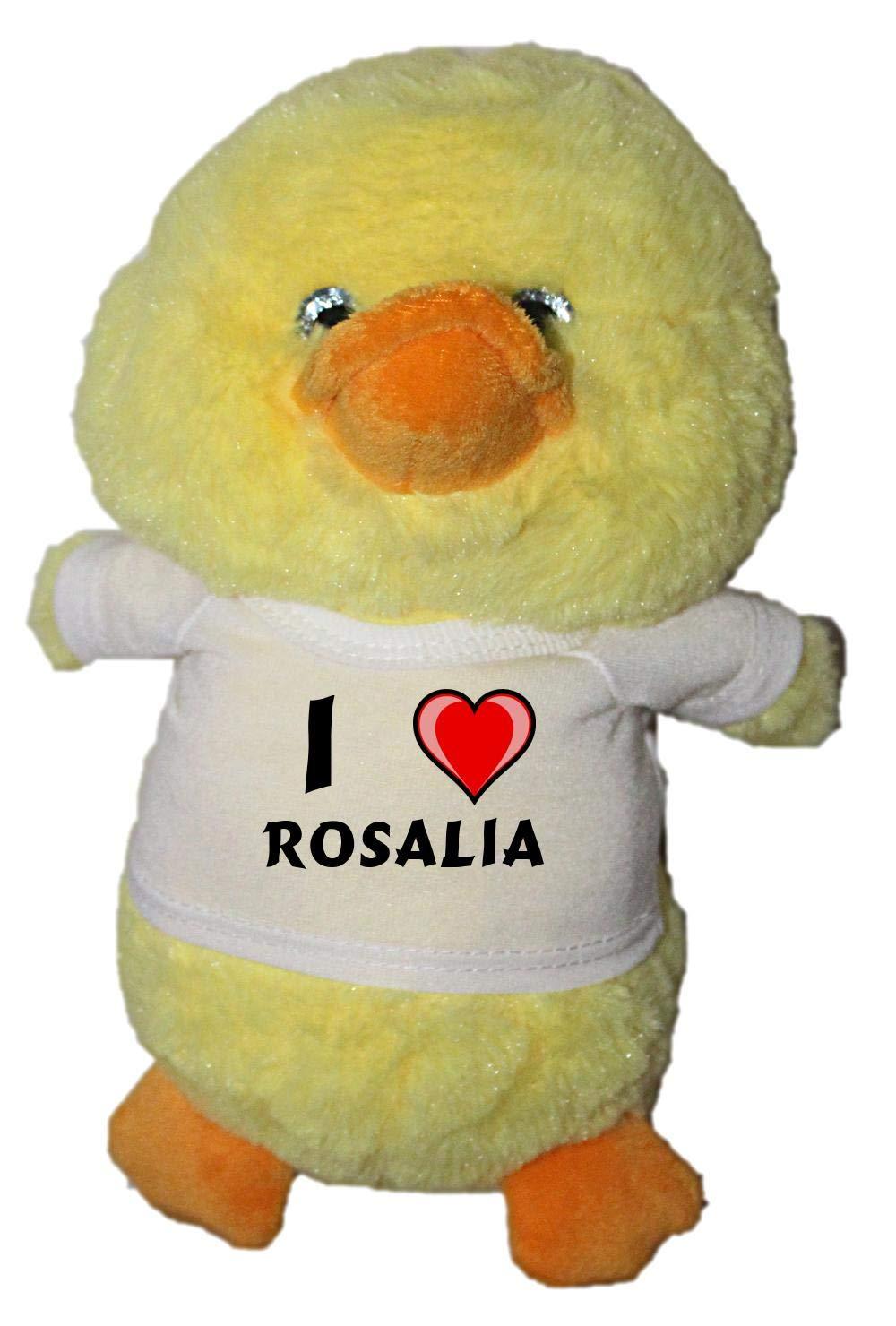 Shopzeus Pato de Peluche (Juguete) con Amo Rosalia en la Camiseta ...