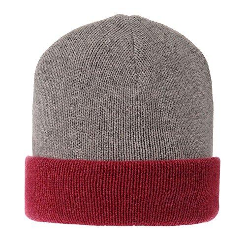 LES POULETTES Womens 100% Cashmere Hat 6 Plys Bicolor Colors - Fuchsia by LES POULETTES