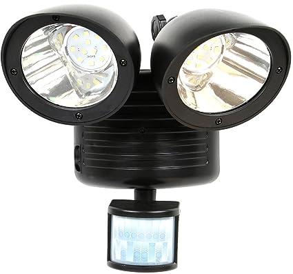 14 LED Dual Head Solar Yard Lights PIR Motion Sensor Spotlight Wall Lamp UK YO