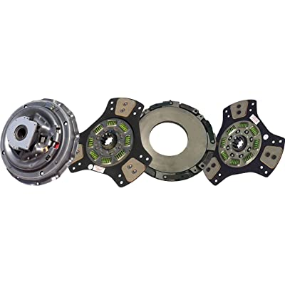 "IATCO 107137-10-IAT 14"" x 1-3/4"" Stamped Steel Clutch (Two-Plate, 3-Paddle / 8-Spring, 2000 Plate Load / 900 Torque, Includes Positive Separator Pin): Automotive"