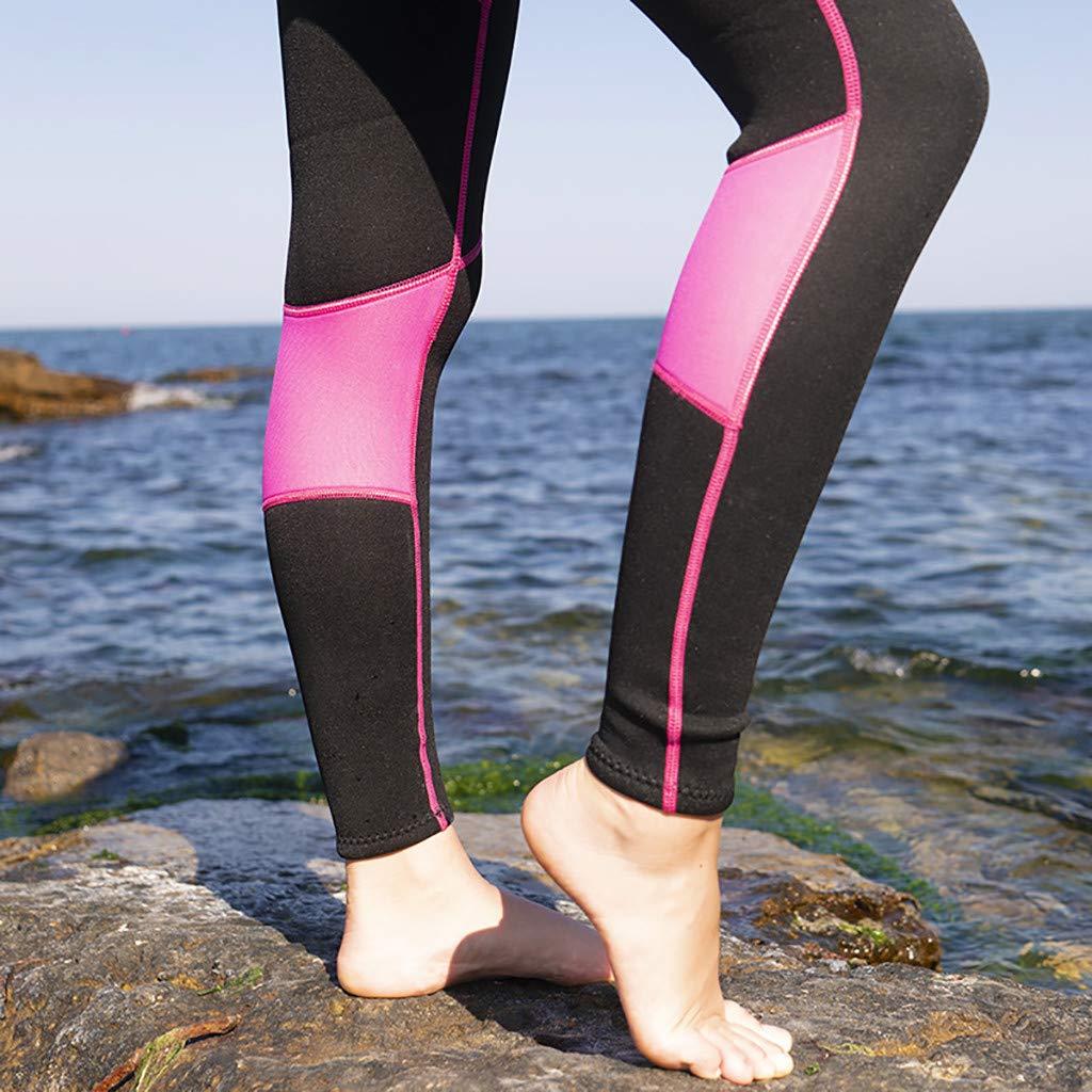 YEZIJIN Women's 2.5MM Sunblock Neoprene Wetsuit for Scuba Diving Surfing Swimming Full B Wetsuit top Long/Short Sleeve Black by Yezijin_Swimsuit (Image #3)
