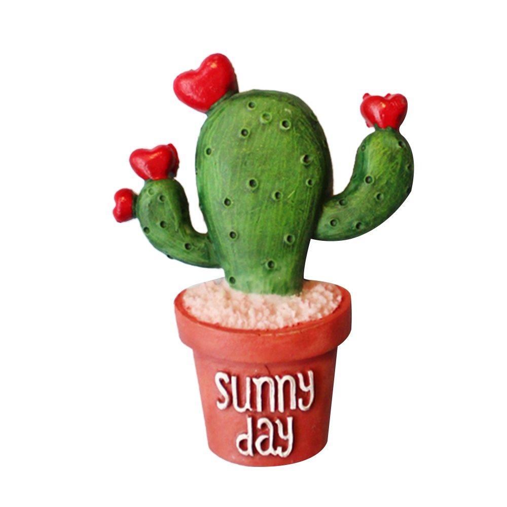 oobest 7 Motifs résine + aimant Creative Cactus Usine Réfrigérateur Aimant Mignon Plante Décoration Réfrigérateur Souvenir Aimants