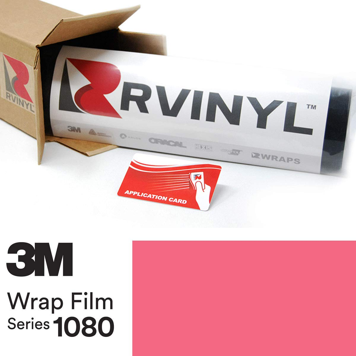 Vinyl Vehicle Car Wrap Film Sheet Roll Rvinyl 3M 1080 G103 Gloss HOT Pink 4in x 6in Sample Size