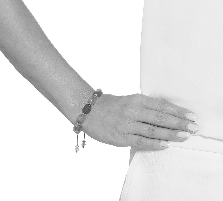 Lola Rose Sury Bracelet French Navy Amber Agate FmMY3EL1