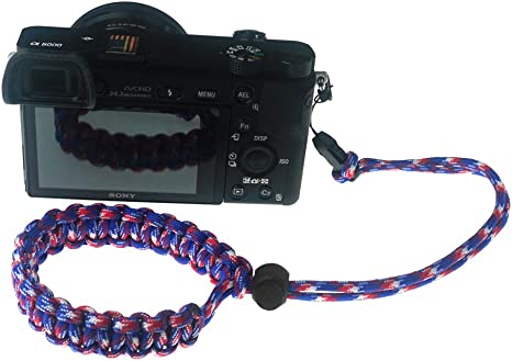 Binoculars Green//White FoRapid Braided 550 Paracord Adjustable Camera Wrist Strap//Bracelet Quick Release Connector Fits All Camera Lugs for Mirrorless Compact System DSLR Cameras