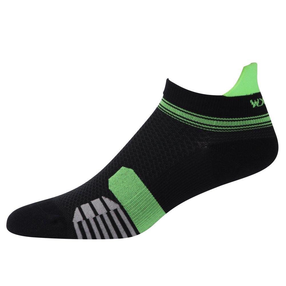 Sports Ankle Socks,WXXM Mens 4 pack Hidden Athletic Cushion Fresh Pattern Single Tab Running Low Cut Socks